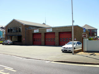 The front of the fire station in the Trefechan part of Aberystwyth